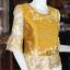 เสื้อผ้าไหมแพรทองแต่งลูกไม้ ไซส์ M thumbnail 2