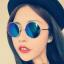 แว่นตากันแดดแฟชั่นเกาหลี กรอบสีทองเลนส์ปรอทสีฟ้า thumbnail 1