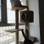 ต้นไม้แมวบาเบลติดเพดาน สำหรับปีนป่ายออกกำลังกายลับเล็บ มีกล่องบ้านแมวตรงกลางลำต้น ติดเพดาน สูง 210-280cm thumbnail 7