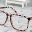 แว่นตาแฟชั่นเกาหลี สีน้ำตาลเสือดาว (พร้อมเลนส์) thumbnail 3