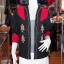 เสื้อคลุมผ้าฝ้ายสุโขทัยสีดำแต่งผ้าปักมือ ไซส์ L thumbnail 1