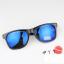 แว่นตากันแดดแฟชั่นเกาหลี กรอบดำสะท้อนแสงน้ำเงิน thumbnail 3