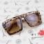 แว่นตากันแดดแฟชั่นเกาหลี กรอบสีน้ำตาลเสือดาว สี่เหลี่ยมคางหมู thumbnail 1
