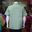 เสื้อเชิ้ตผ้าทอลายสก็อต ไม่อัดผ้ากาว สีเขียว-เหลือง ไซส์ XL thumbnail 3