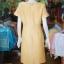 เดรสผ้าฝ้ายสุโขทัย สีเหลือง ไซส์ XL thumbnail 4