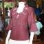 เสื้อผ้าฝ้ายสุโขทัย ปักมุก ไซส์ XL thumbnail 3