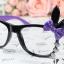 แว่นตาแฟชั่นเกาหลี กระต่ายดำม่วง (ไม่มีเลนส์) thumbnail 1