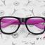 แว่นตาแฟชั่นเกาหลี กระโหลกดำโรส (ไม่มีเลนส์) thumbnail 1