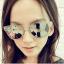 แว่นตากันแดดแฟชั่นเกาหลี กรอบขาวใสเลนส์ปรอทกระจก thumbnail 1