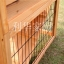 บ้านสัตว์เลี้ยง บ้านหมา บ้านแมว กระต่ายหนูไก่ นก อากาศถ่ายเทได้สะดวก 2 ชั้น ขนาดกลาง สีไม้ธรรมชาติ thumbnail 4