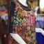 เสื้อผ้าฝ้ายบาติกแต่งปักไหม ไซส์ L thumbnail 2