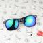 แว่นตากันแดดแฟชั่นเกาหลี กรอบดำสะท้อนแสงน้ำเงินม่วง thumbnail 3