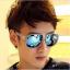 แว่นตากันแดดแฟชั่นเกาหลี กรอบขาวใสเลนส์ปรอทรุ้ง thumbnail 3