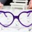 แว่นตาแฟชั่นเกาหลี กรอบหัวใจสีม่วง (ไม่มีเลนส์) thumbnail 1