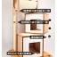 บ้านไม้ ที่นอนแมว เป็นที่ลับเล็บในตัว ขนาดใหญ่ ไม้เนื้อแข็ง thumbnail 2