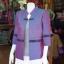 เสื้อคลุมผ้าฝ้ายสุโขทัย แต่งผ้าทอลายมุกสายรุ้ง ไซส์ 2XL thumbnail 2