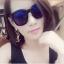 แว่นตากันแดดแฟชั่นเกาหลี กรอบดำมันเลนส์สีฟ้าสุดไฮโซ thumbnail 1