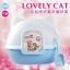 ห้องน้ำแมวทรงหน้าแมวน้อย รูปทรงน่ารัก thumbnail 1
