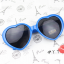 แว่นตากันแดดแฟชั่นเกาหลี กรอบหัวใจสีน้ำเงิน thumbnail 2
