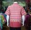 เสื้อเชิ้ตผ้าฝ้ายทอลายช้าง ไม่อัดผ้ากาว สีแดง-เหลืองอ่อน ไซส์ XL thumbnail 3