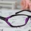แว่นตาแฟชั่นเกาหลี สีม่วงดำ (พร้อมเลนส์) thumbnail 1