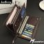 กระเป๋าสตางค์ผู้ชายใบยาว MZ-024 [มีซิป] thumbnail 2