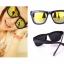 แว่นตากันแดดแฟชั่นเกาหลี กรอบดำเลนส์ปรอททอง thumbnail 1