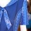 เดรสผ้าฝ้ายแต่งผ้าทอลายมัดหมี่สุโขทัย ไซส์ 4XL thumbnail 4