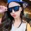 แว่นตากันแดดแฟชั่นเกาหลี กรอบดำ ฟิล์มปรอทสีน้ำเงิน thumbnail 1