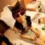 แว่นตากันแดดแฟชั่นเกาหลี กรอบหัวใจสีแดง thumbnail 2