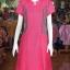 เดรสผ้าฝ้ายสุโขทัยแต่งผ้ามุกสายรุ้งคอจีน ไซส์ M thumbnail 1