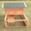 บ้านสัตว์เลี้ยง บ้านหมา บ้านแมว กระต่ายหนูไก่ นก อากาศถ่ายเทได้สะดวก 2 ชั้น ขนาดกลาง สีไม้ธรรมชาติ thumbnail 3