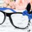 แว่นตาแฟชั่นเกาหลี กระต่ายดำน้ำเงิน (ไม่มีเลนส์) thumbnail 1