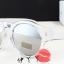 แว่นตากันแดดแฟชั่นเกาหลี กรอบขาวใสเลนส์ปรอทกระจก thumbnail 2