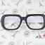 แว่นตาแฟชั่นเกาหลี ดำขาว (ไม่มีเลนส์) thumbnail 1
