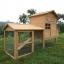 บ้านสัตว์เลี้ยง บ้านหมา บ้านแมว กระต่ายหนูไก่ นก อากาศถ่ายเทได้สะดวก 2 ชั้น ชั้นบนมีห้องเล็กยื่นออกมา ขนาดกลาง สีไม้ธรรมชาติ thumbnail 1