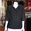 เสื้อผ้าฝ้ายสุโขทัยสีดำ ปกเชิ้ตคอวี ไซส์ L thumbnail 1