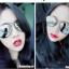 แว่นตากันแดดแฟชั่นเกาหลี กรอบสีเงิน เลนส์ปรอทกระจก thumbnail 1