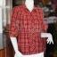 เสื้อผ้าฝ้ายทอลายสก็อต ปกเชิ้ตคอวี ไซส์ M thumbnail 2
