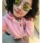 แว่นตากันแดดแฟชั่นเกาหลี กรอบขาวใสเลนส์ปรอทสีทอง thumbnail 1