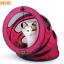 MU0014 อุโมงค์ที่นอนแมว เกลียวตาข่าย มีเบาะรองนั่ง ระบายอากาศได้ดี Spiral cat bed Fashion spiral cat litter thumbnail 1