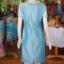เดรสผ้าไหมแพรทอง สีฟ้า ไซส์ XL thumbnail 3