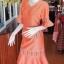 ชุดเสื้อกระโปรงผ้าฝ้ายสุโขทัยแต่งลายมุกสายรุ้ง ไซส์ S thumbnail 2