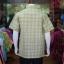 เสื้อเชิ้ตผ้าทอลายสก็อต ไม่อัดผ้ากาว สีเขียวอ่อน ไซส์ 2XL thumbnail 3