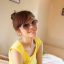แว่นตากันแดดแฟชั่นเกาหลี กรอบเหลี่ยมสีเหลืองใส thumbnail 1