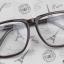 แว่นตาแฟชั่นเกาหลี สีดำมัน (พร้อมเลนส์) thumbnail 2