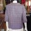 เสื้อผ้าฝ้ายทอลายสก็อต คอบัว ไม่อัดกาว ไซส์ XL thumbnail 3