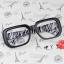 แว่นตาแฟชั่นเกาหลี กรอบดำม้าลาย (ไม่มีเลนส์) thumbnail 1