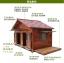 บ้านสุนัขแบบ 2 ห้องนอน ประตูและหน้าต่างมีกันสาดกระจกสำหรับกันลมฝน หลังคาเปิดได้ พื้นถอดได้ มีหลายขนาด thumbnail 5