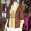 เสื้อคลุมผ้าฝ้ายสุโขทัย แต่งผ้าทอลายมัดหมี่ ไซส์ XL thumbnail 2
